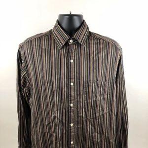 Johnston & Murphy multicolor button shirt mens L